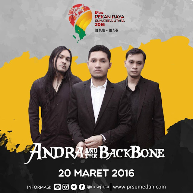 Penampilan Andra And The Backbone di Pekan raya Sumatera Utara 2016