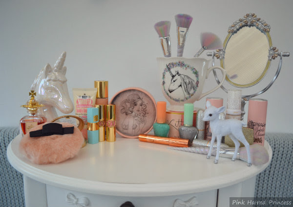 boudoir dressing table makeup unicorn scene