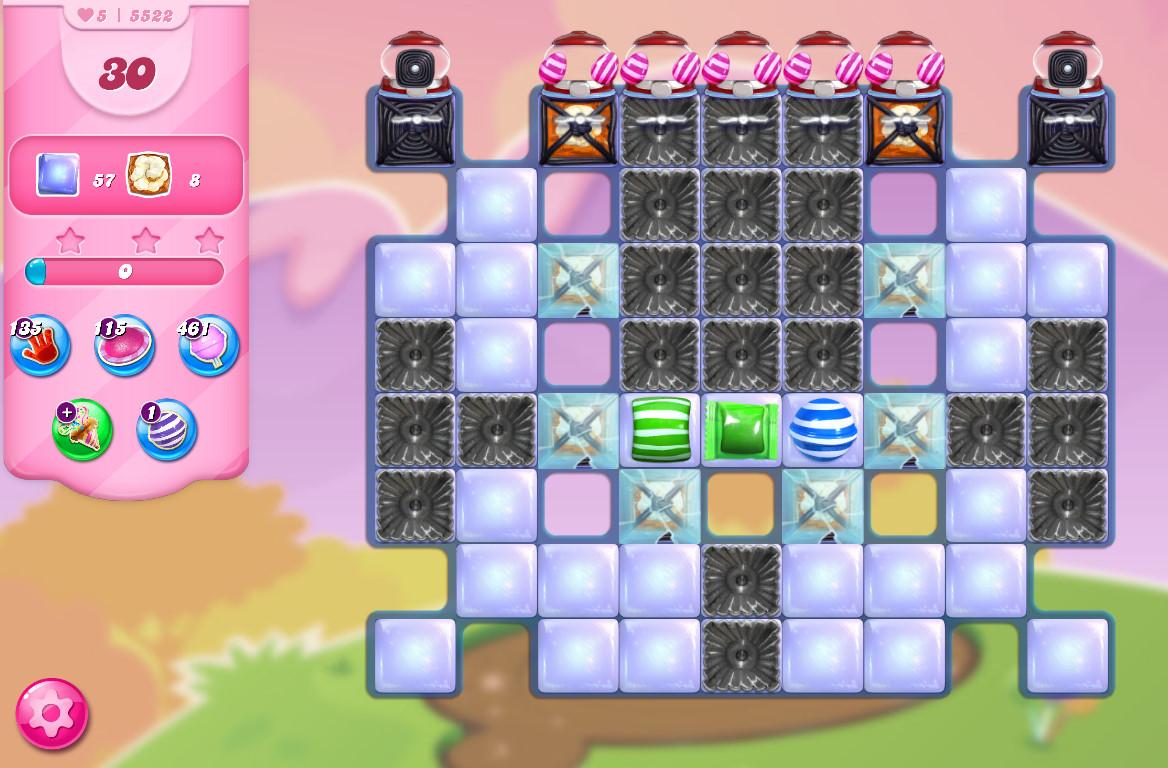Candy Crush Saga level 5522
