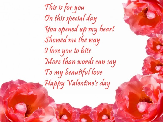 Valentines Day Poems In English
