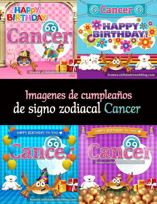 imágenes de cumpleaños de signo Cancer