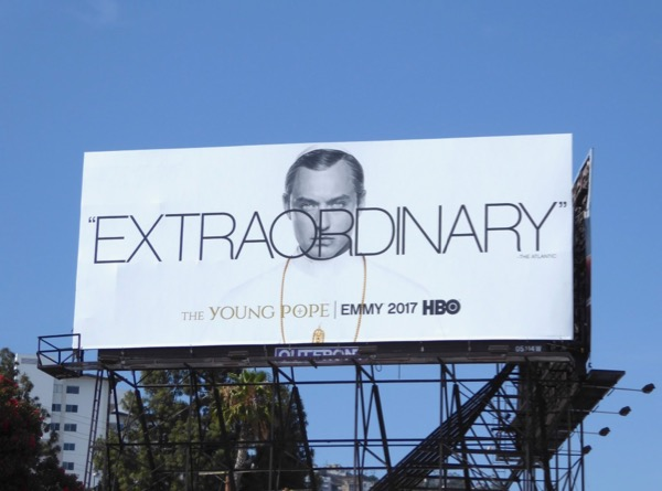 Young Pope Extraordinary 2017 Emmy FYC billboard