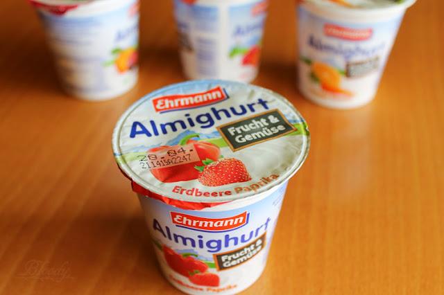 Almighurt Frucht&Gemüse Erdbeere Paprika von Ehrmann