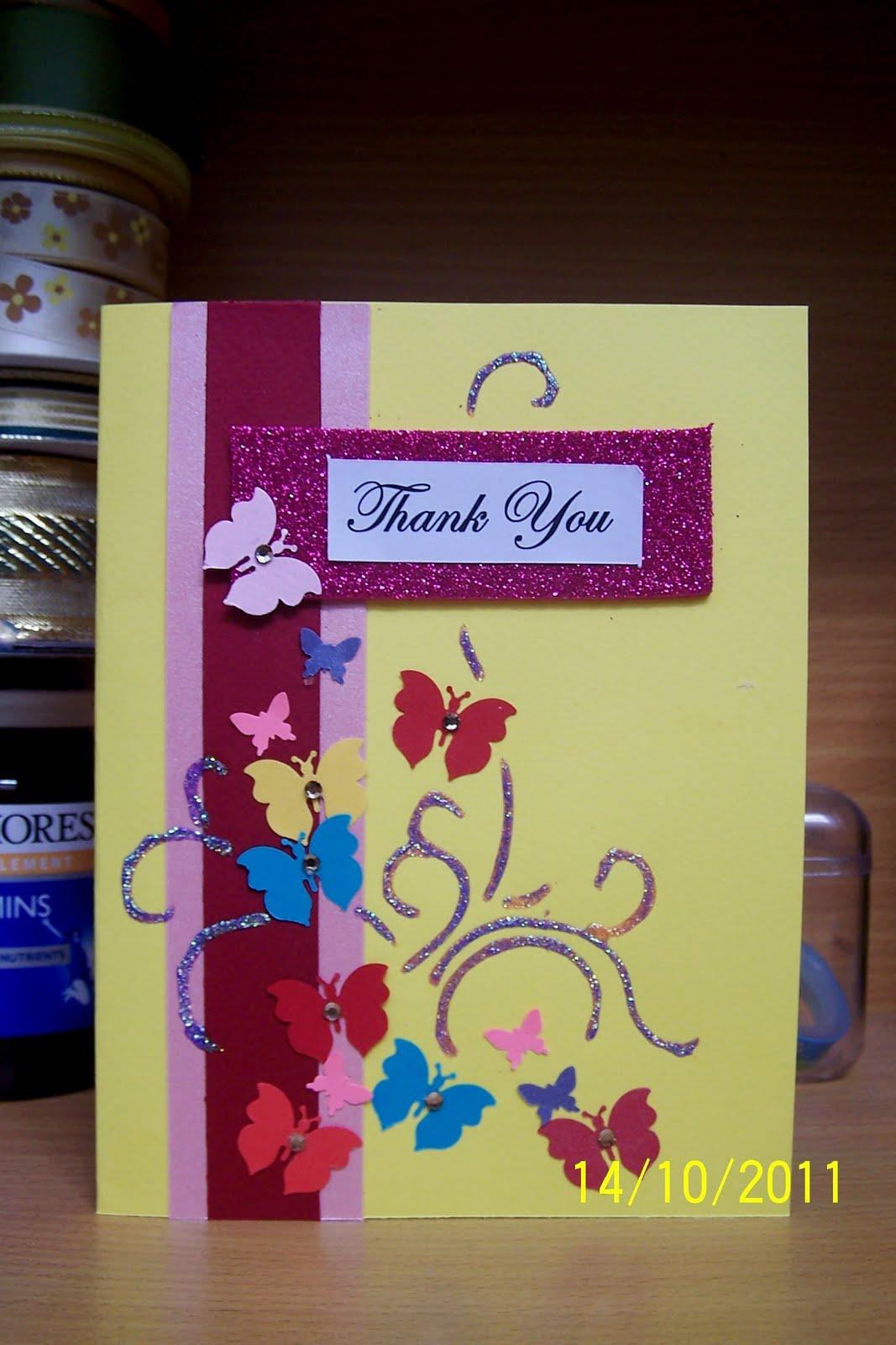 Elaine's Creative Cards: Thank-you cards