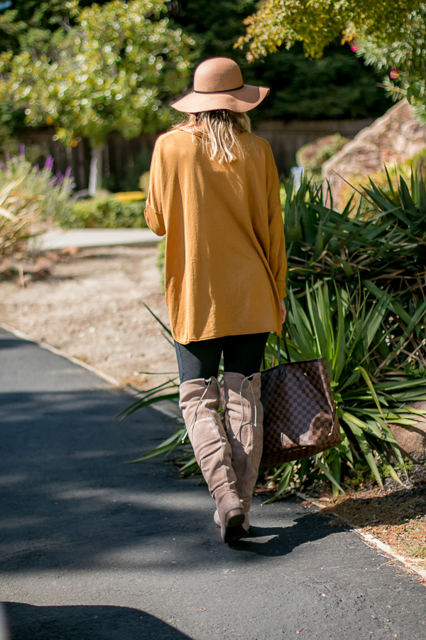 tan suede over the knee boots parlor girl