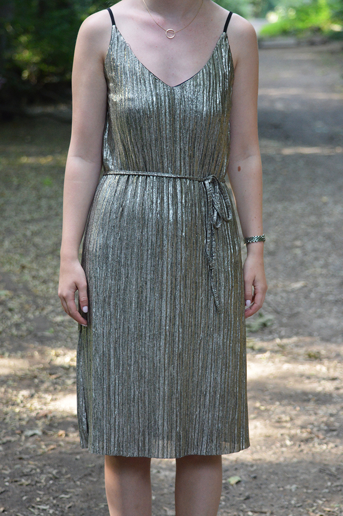 oasis metallic dress fashion bloggers