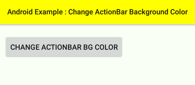 android - Change ActionBar background color programmatically
