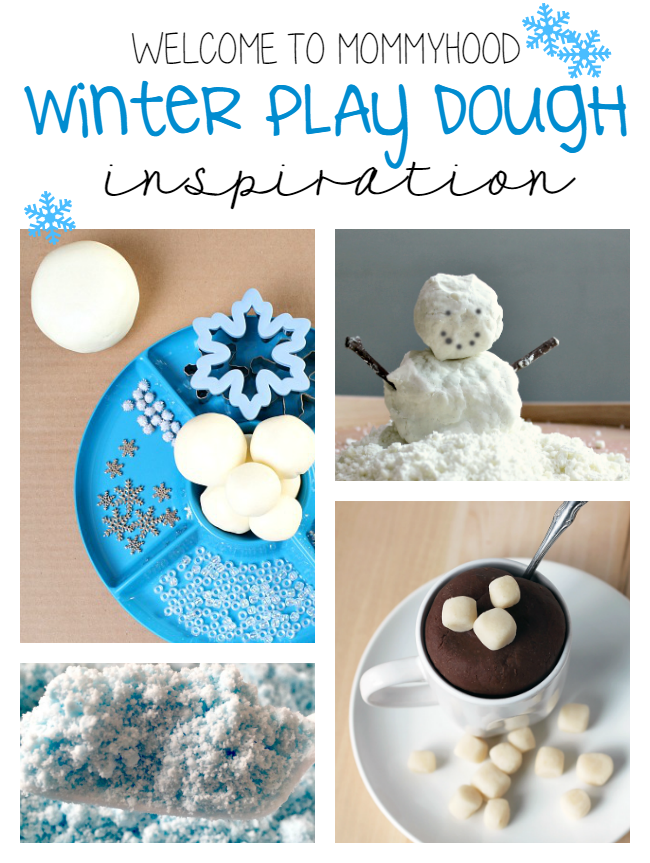 Winter play dough activities by Welcome to Mommyhood #playdough, #sensoryplay, #winteractivities, #kidsactivities, #earlylearning