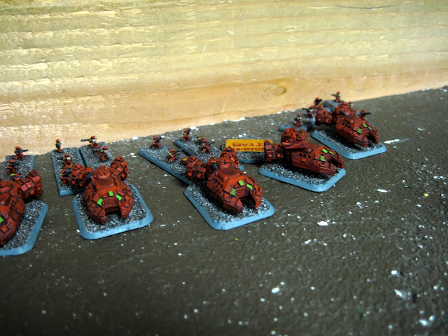 CaptPiett's newly painted Tau make their annoying hover sound as they come on to the field.