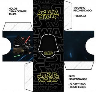 Caja Invitación para Imprimir Gratis de Star Wars.