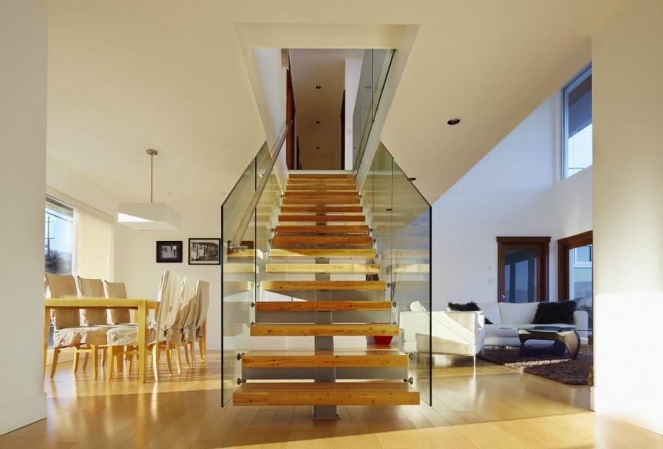 modern staircase design, simple staircase design