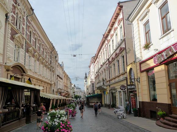 Черновцы. Улица Ольги Кобылянской