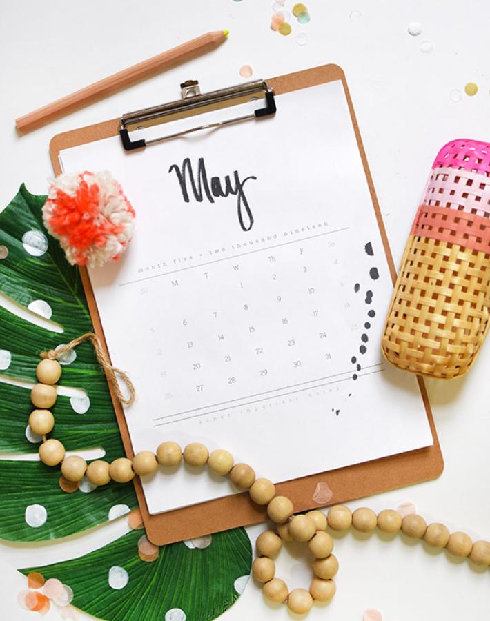 Calendarios 2019 imprimibles gratis