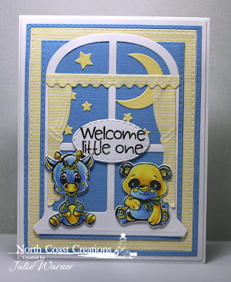North Coast Creations Stamps & Dies: Bundle of Love, ODBD Custom Dies: Double Stitched Rectangles, Window, Stitched Ovals, Sparkling Stars, Circles
