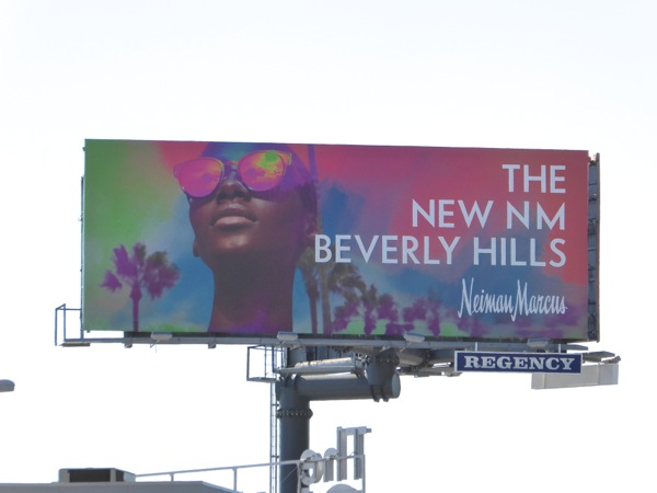 new Neiman Marcus Beverly Hills billboard