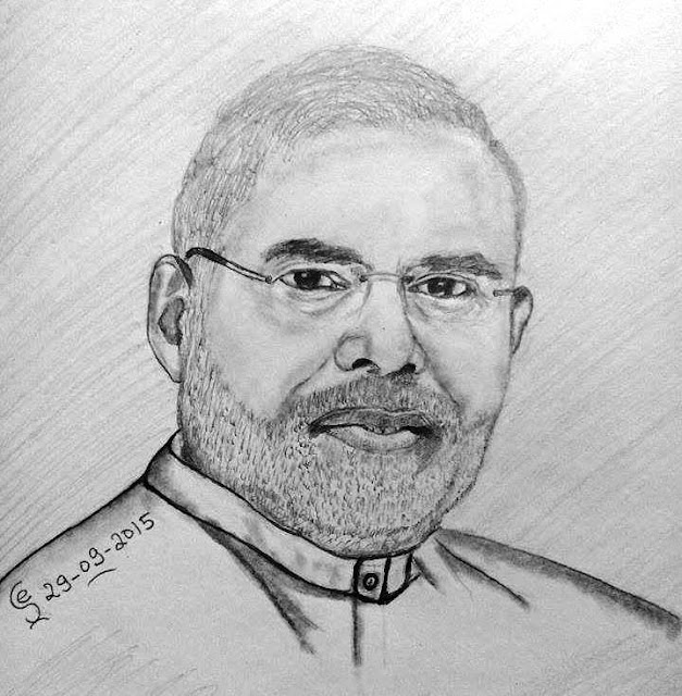 PENCIL DRAWING - Narendra Modiji