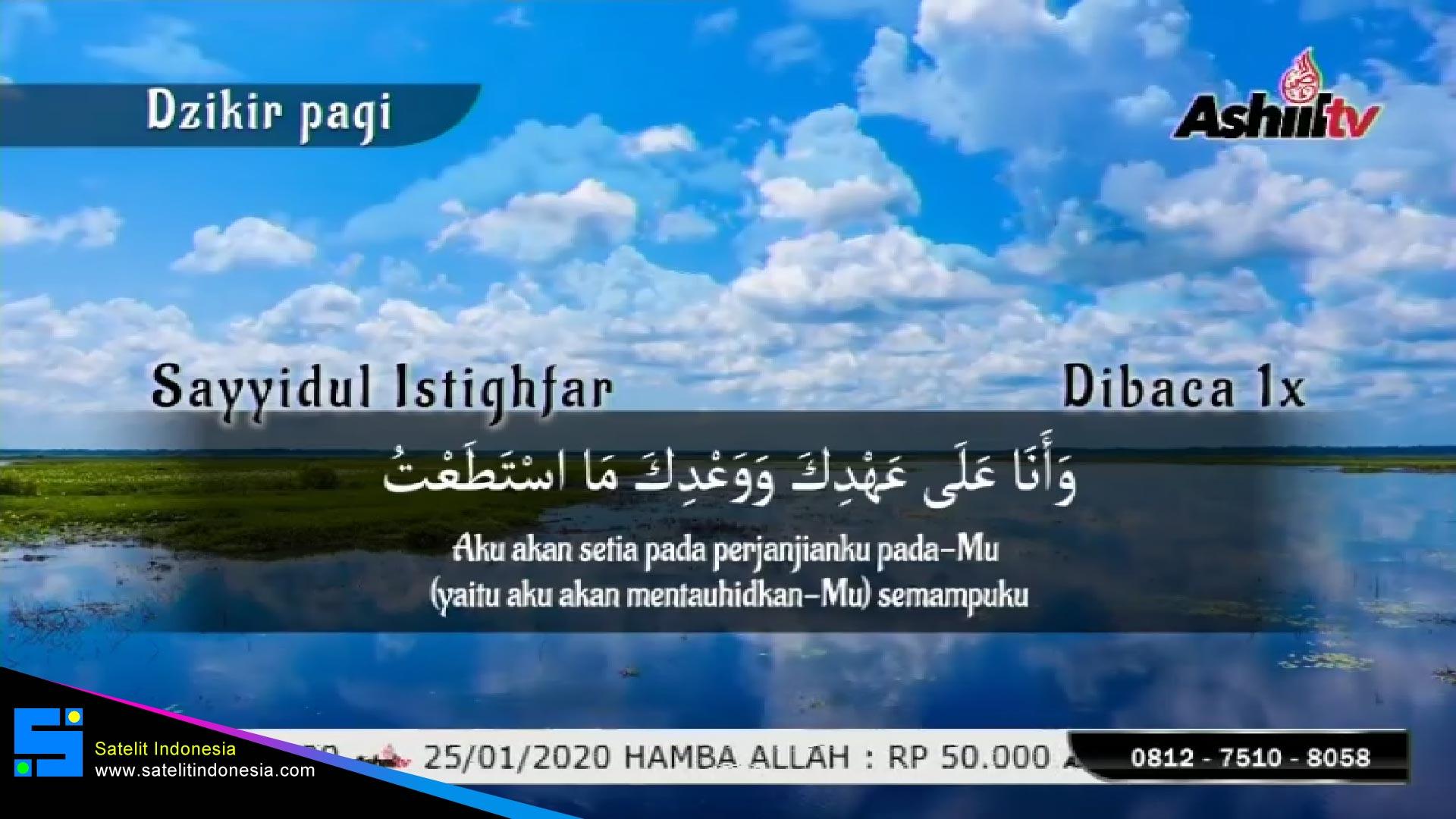 Frekuensi siaran Ashiil TV di satelit Telkom 4 Terbaru