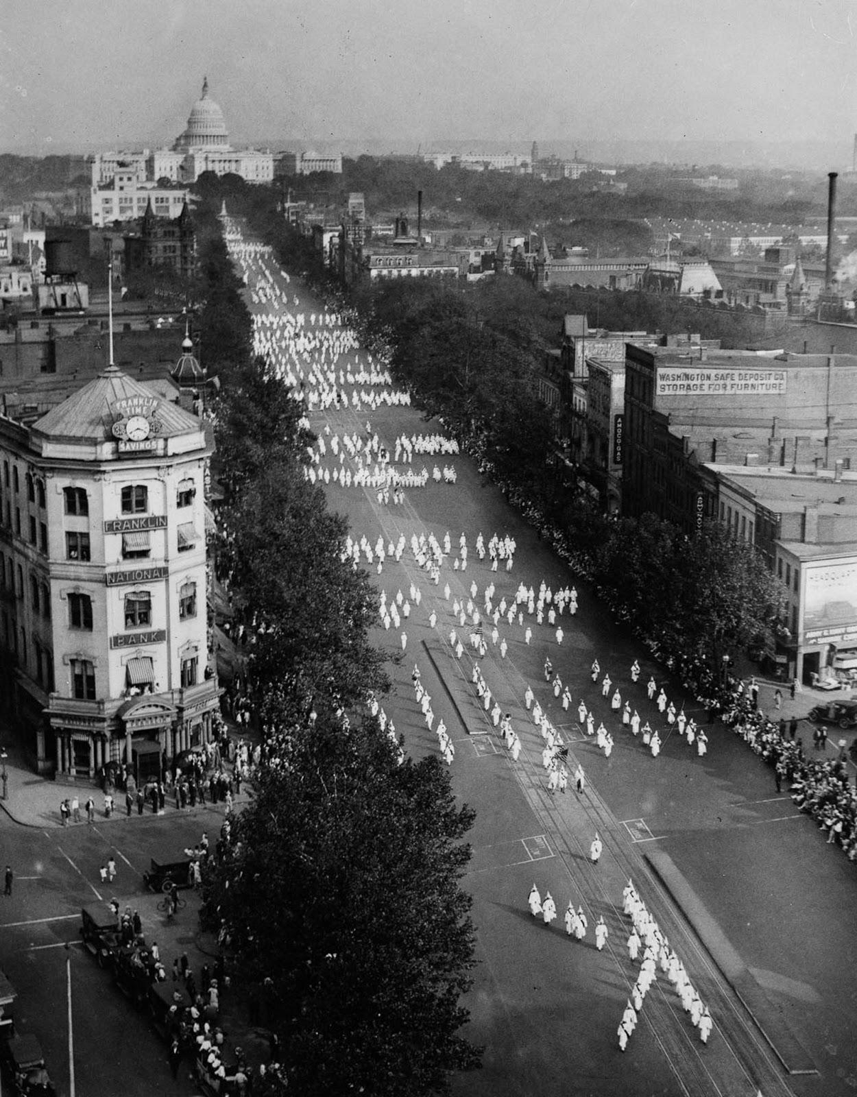 KKK Washington Parade of 1926.