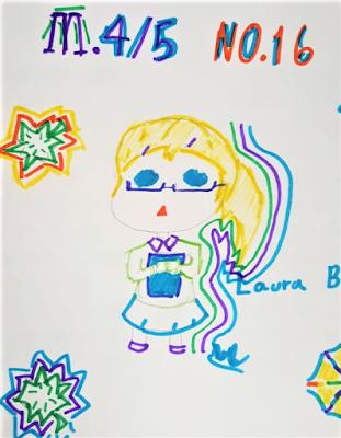 Student drawing of ESL teacher