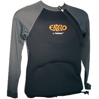 Ergo by PaddleAir Long Sleeve Lycra/Neoprene in Black/Slate
