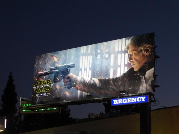 Han Solo Star Wars Force Awakens billboard