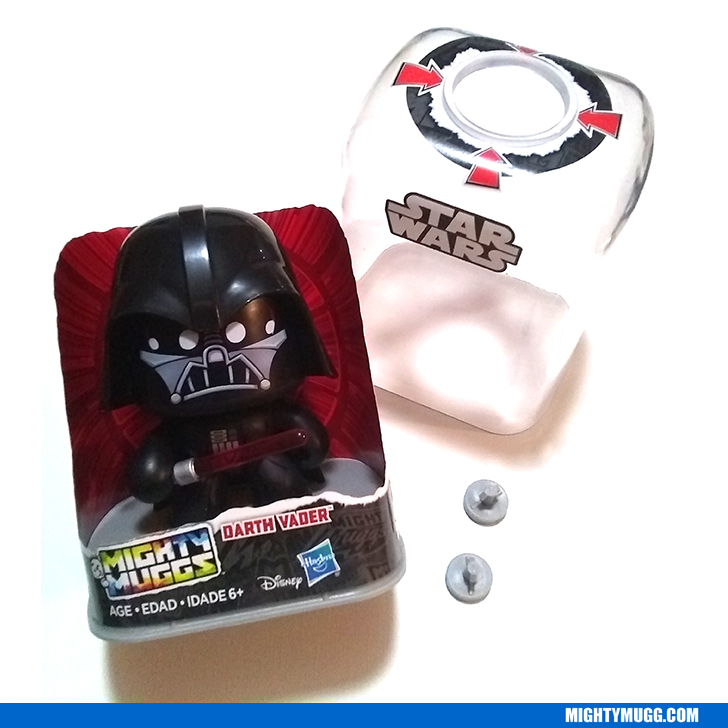 Darth Vader Star Wars Mighty Muggs 2018 Opened In Display Case