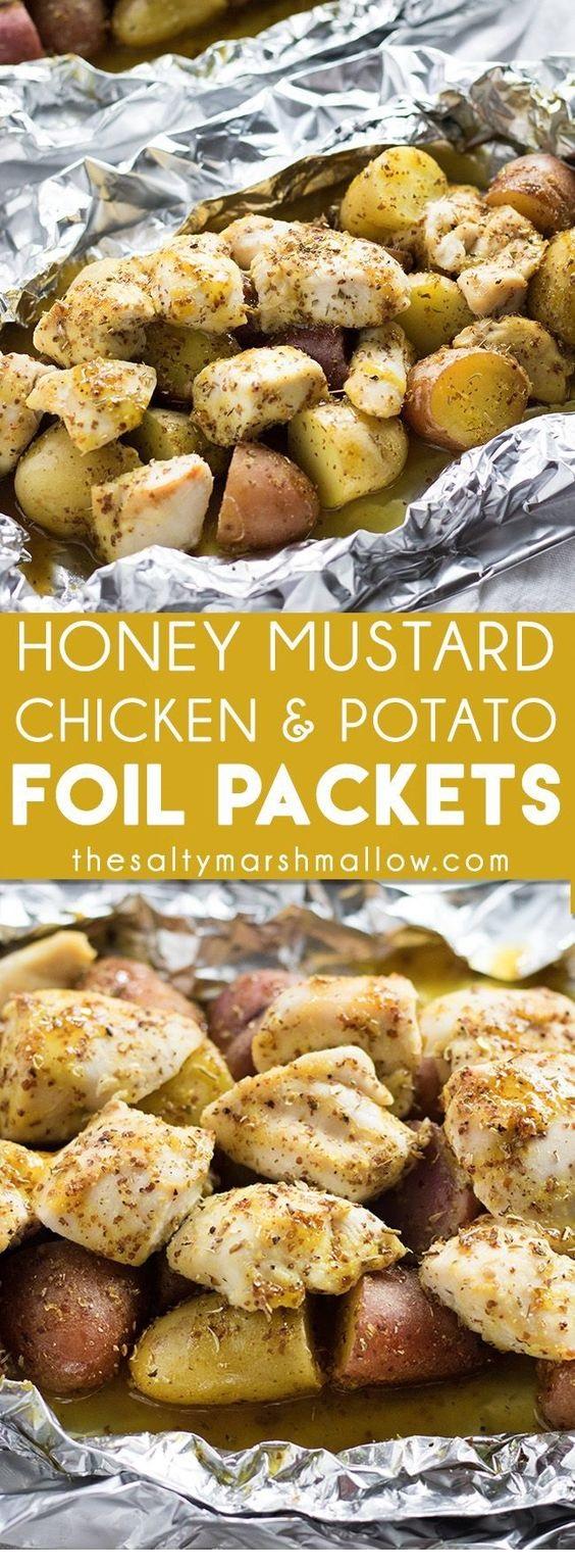 Honey Mustard Chicken Foil Packets