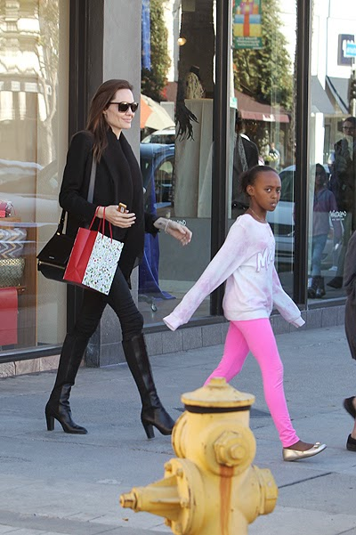 Angelina Jolie took daughters
