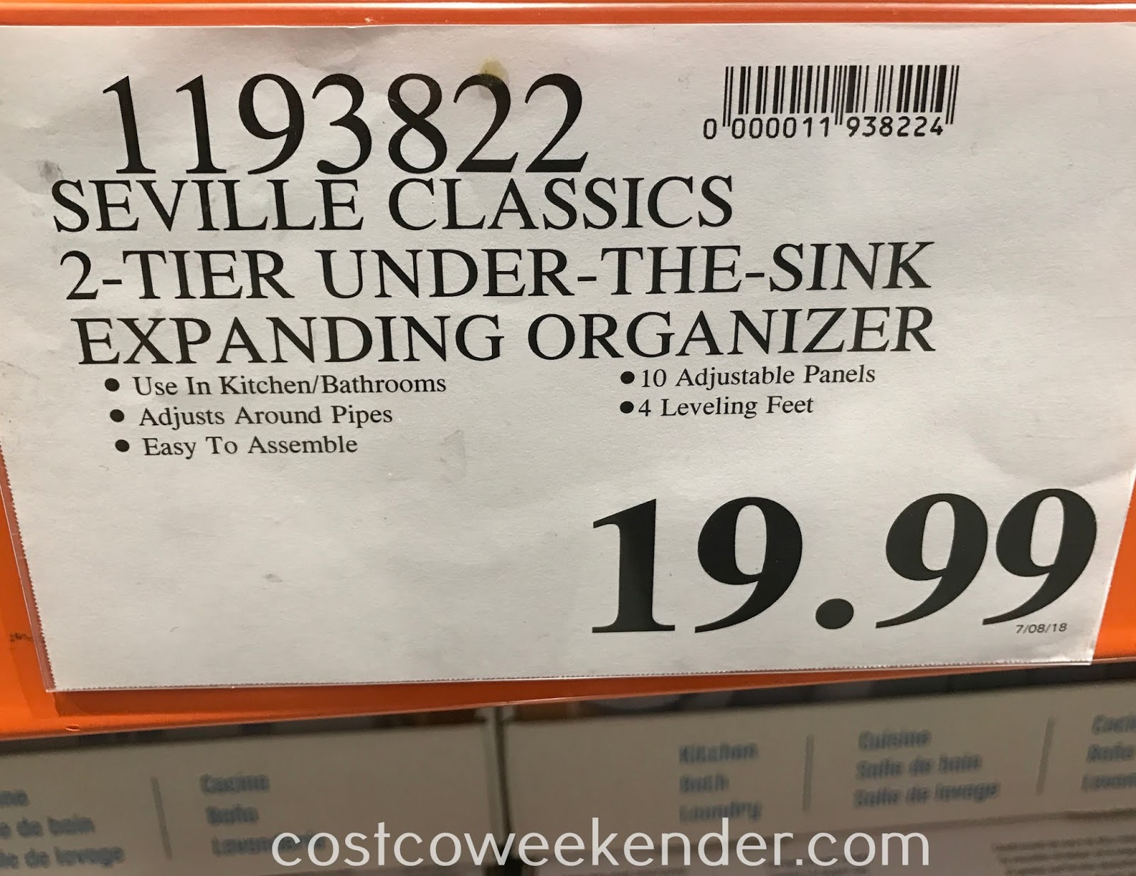 Deal for the Seville Classics 2-Tier Under-the-Sink Organizer at Costco