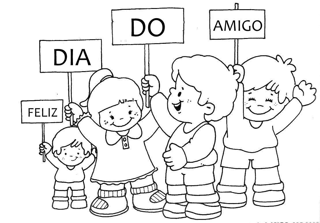 Desenhos Para Colorir Dia Do Amigo 2 Pra Gente Miuda