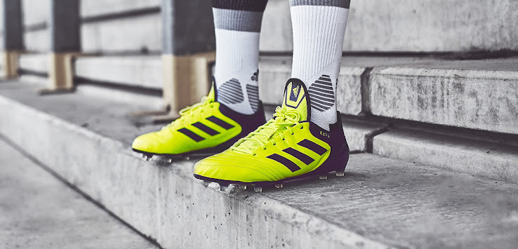 c040c306668d35 ... the Adidas Copa 17 boots received a striking yellow makeover today. The  Solar Yellow Adidas Copa 17.1 cleats were released in August 2017 as part  of the ...