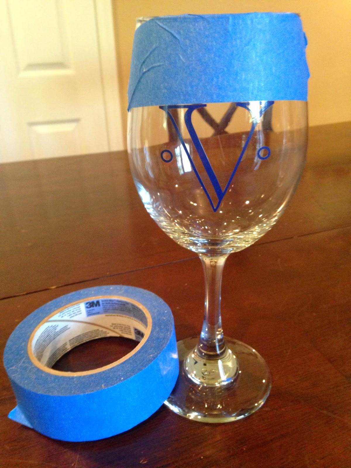 Painters tape, Painter's tape, Silhouette, crafting, wine glass