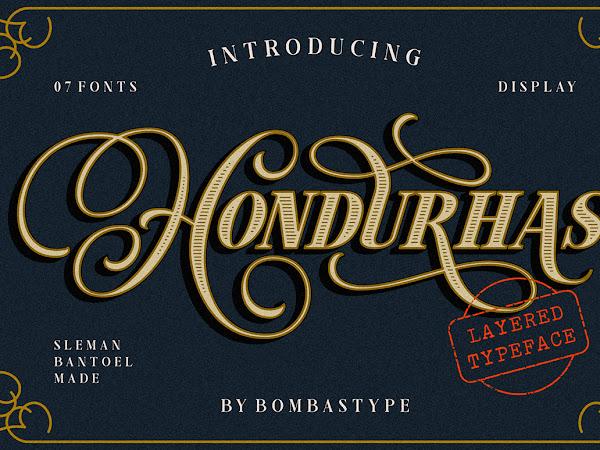 Hondurhas Layered Script Font Free Download