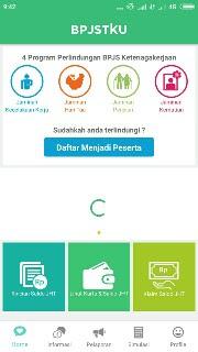 Tampilan Aplikasi BPJSTKU - Bagi Para TKI, Inilah Cara Terbaru Mendaftar BPJS Ketenagakerjaan Secara Online Menggunakan Aplikasi BPJSTKU