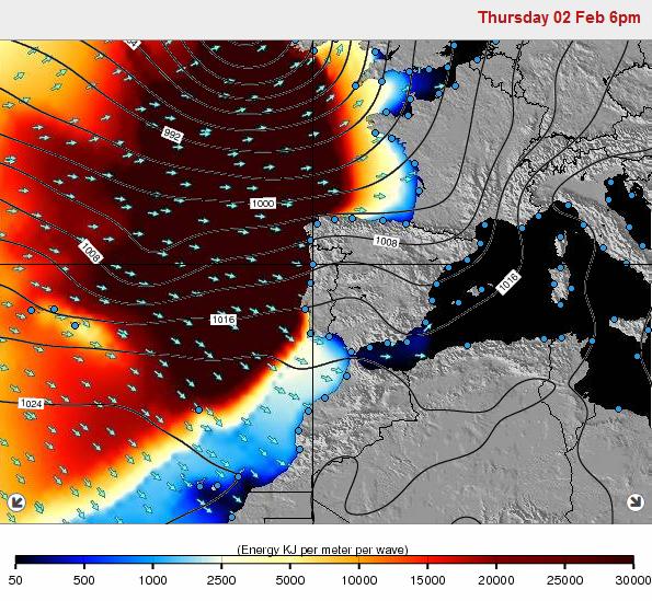 Imagem da tempestade junto à Peninsula Iberica