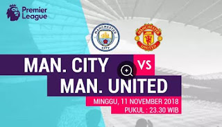 Susunan Pemain Manchester City vs Manchester United
