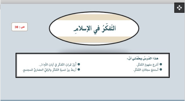 حل درس التفكر في الإسلام للصف السابع