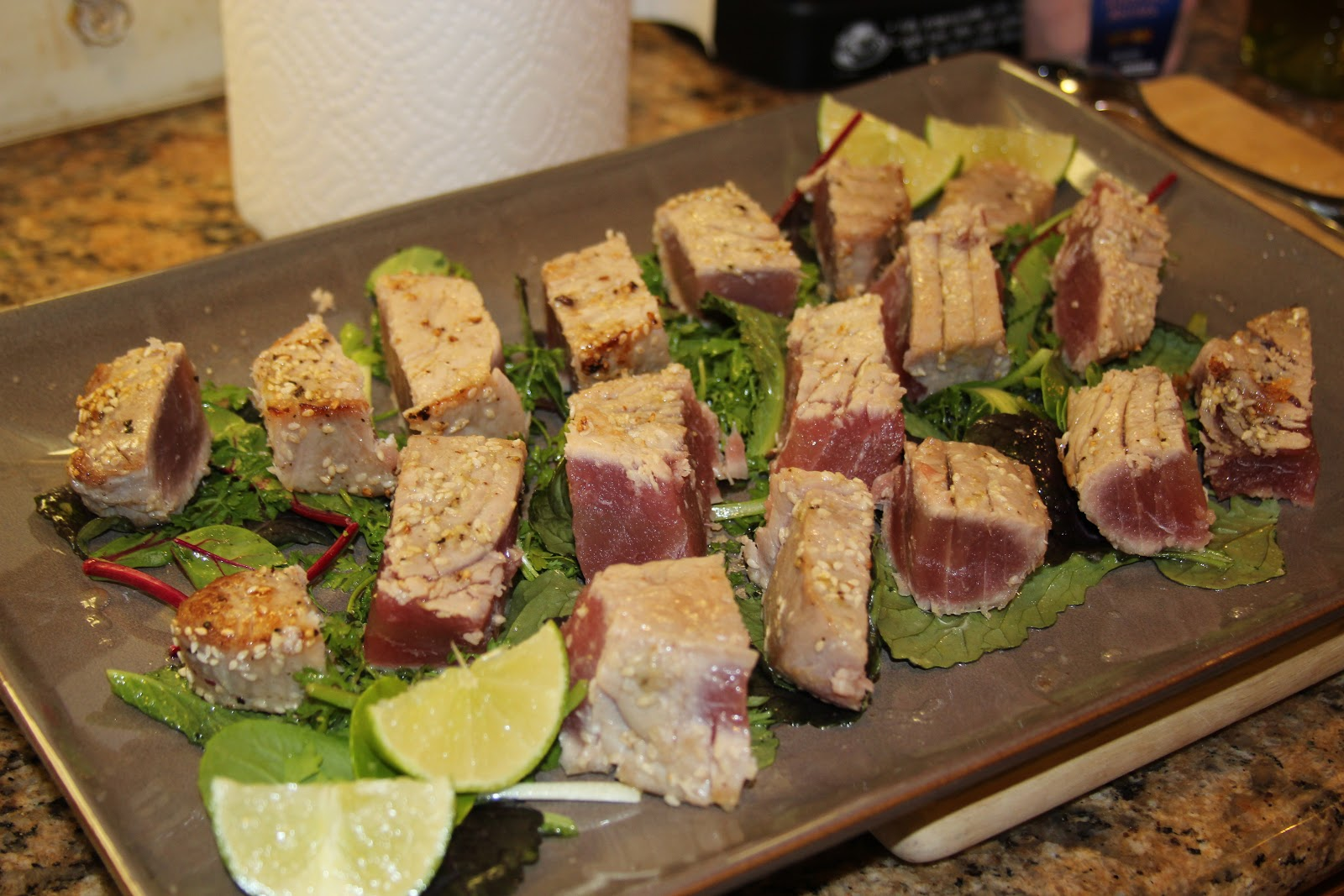 Town's Sesame Seared Tuna with Lime Ginger Vinaigrette (Menu Madness ...