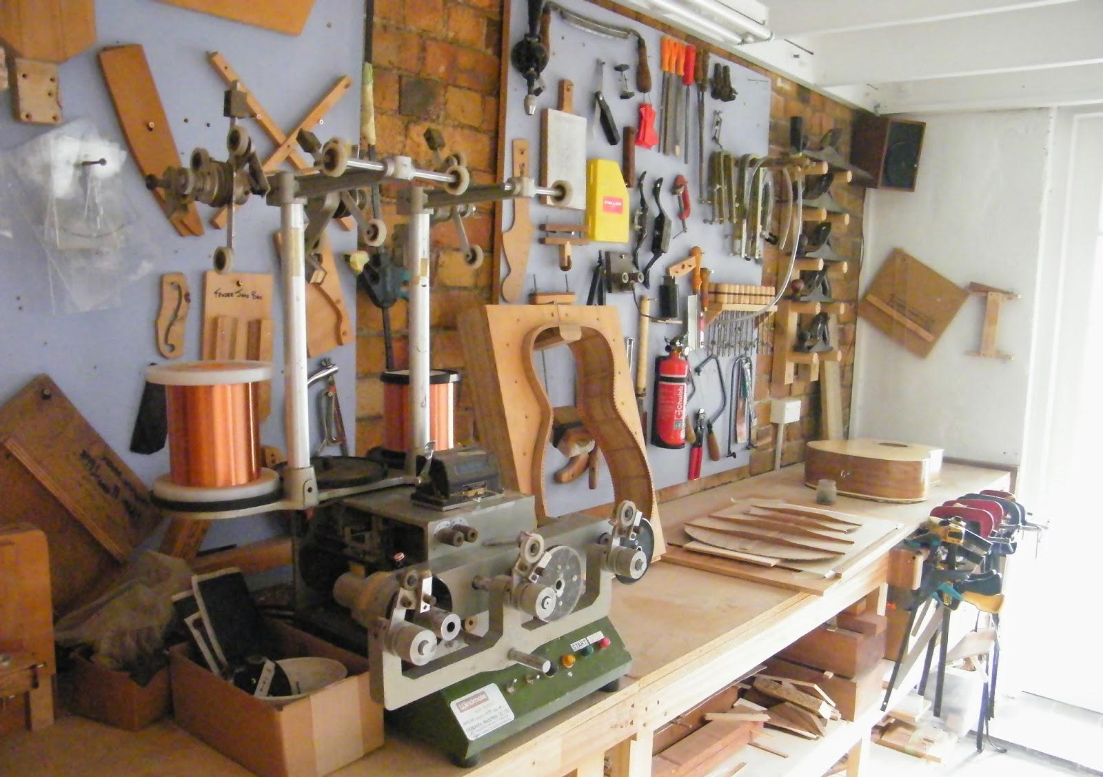 Mr Glyns Guitar Repair New Workshop