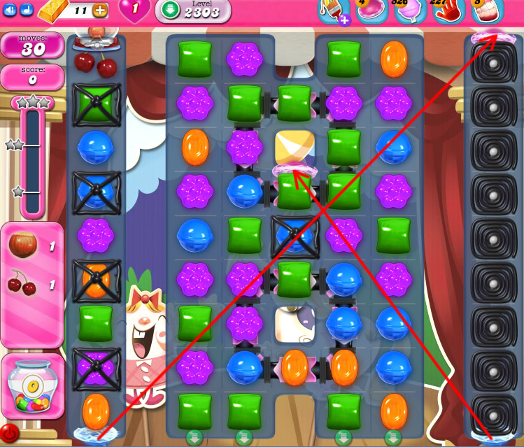 Candy Crush Saga level 2303