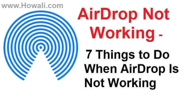 AirDrop Not Working on Mac, iPhone, IOS, iPad