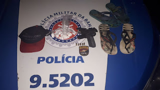 Polícia apreende pistola PT 380 e drogas no bairro de Portão
