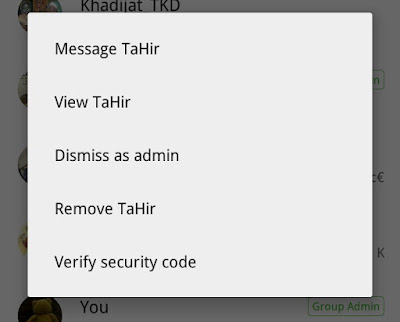 Whatsapp latest update now allows Demotion of Group administrators