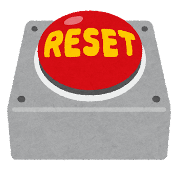 リセットボタンのイラスト(オフ)