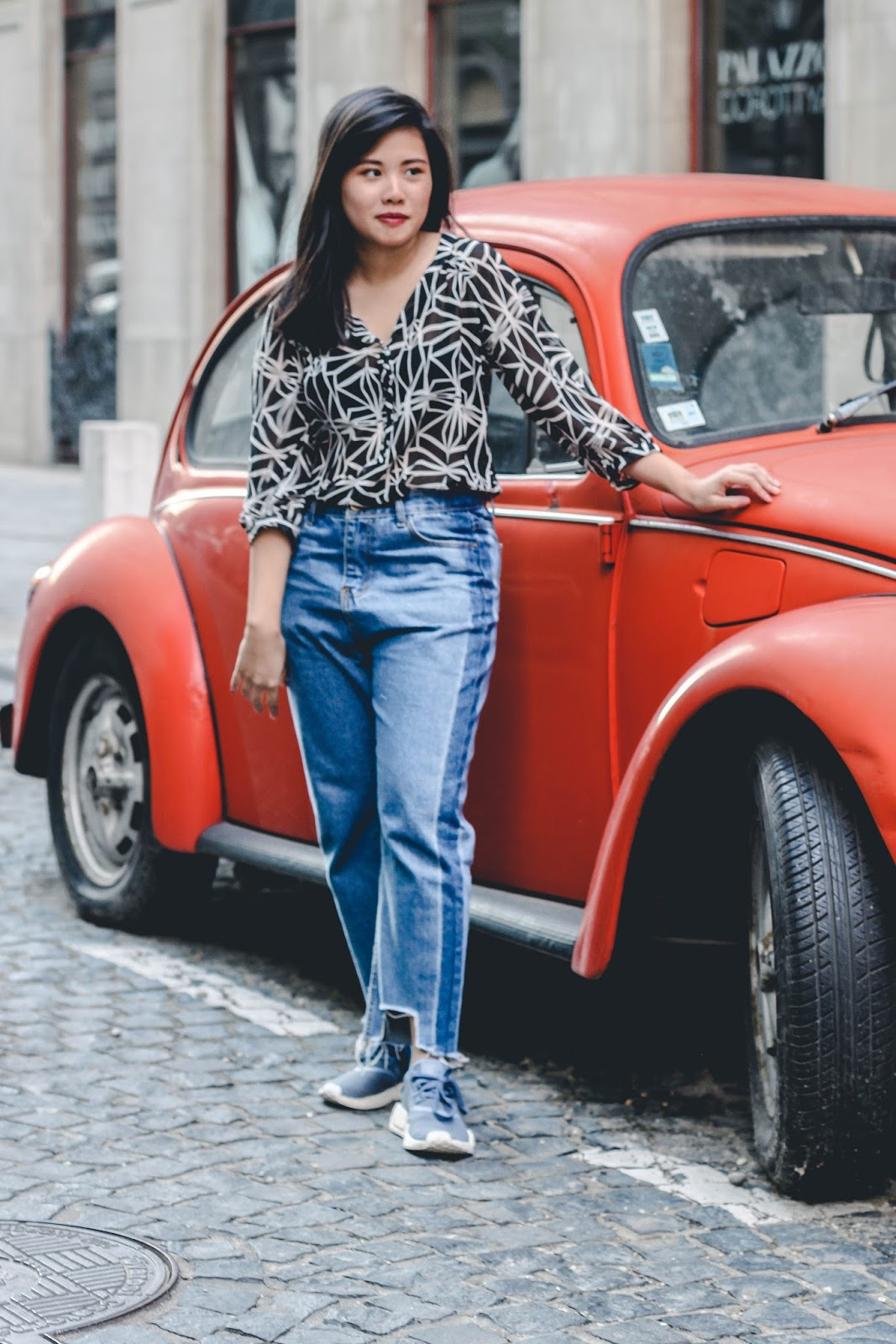 singapore blogger street style vintage car adidas denim photography photographer look book outfit stylist wiwt ootd