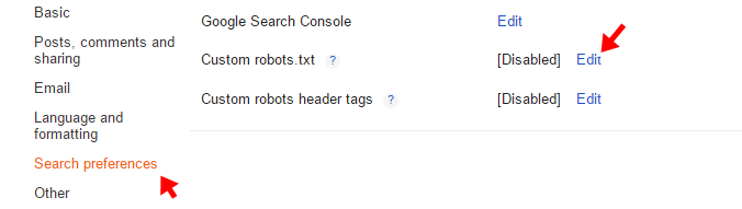 robot file setting