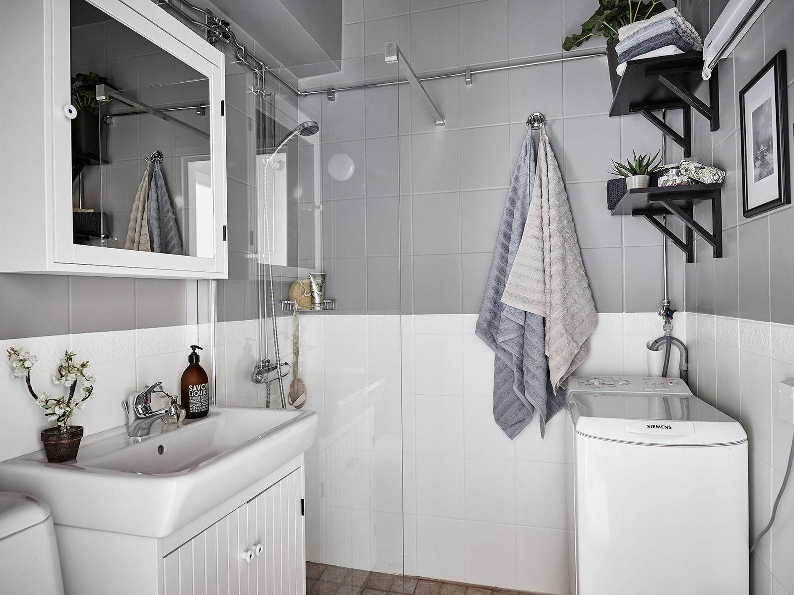 JAK POMALOWAĆ KAFELKI W ŁAZIENCE? ikea łazienka, skandynawska łazienka