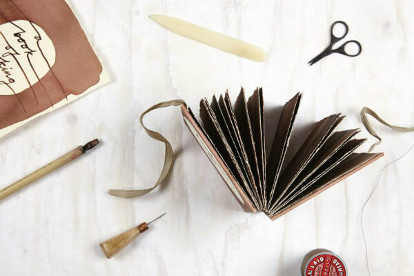 bookmaking supplies and handmade accordion book