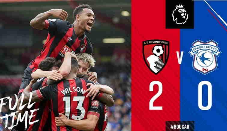 Hasil Bournemouth vs Cardiff City Skor Akhir 2-0 [Liga Inggris 2018 Pekan 1]