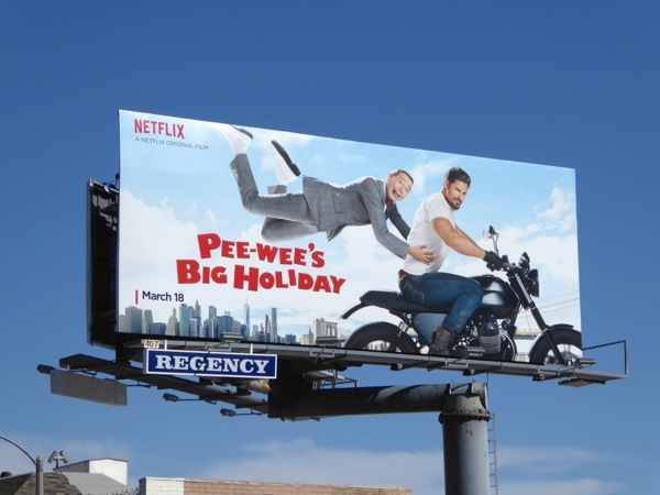 Peewees Big Holiday movie billboard